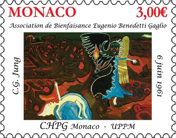 Versione definitiva del francobollo commemorativo per il 60° anniversario della morte di Carl Gustav Jung